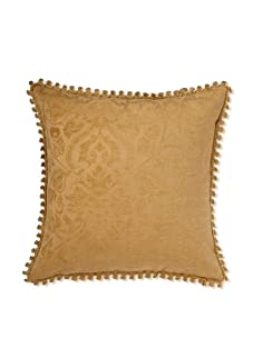 Mystic Valley Traders Chenille Damask Pillow (Natural)