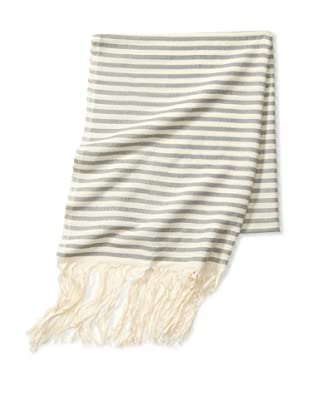 Mili Designs Women's Essouria Striped Cotton Scarf (Grey Stripe)