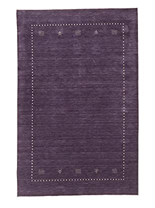 eCarpet Gallery One-of-a-Kind Hand-Knotted Kashkuli Gabbeh Rug, Purple, 6' x 9'