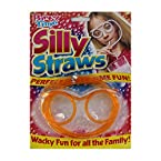 Silly straw- Orange- Eye glasses Goggles Shaped straws for drink parties.