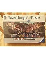 Ravensburger 1000 Panorama Riomaggiore at Dusk, Multi Color