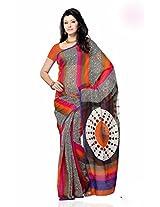 Shariyar Multi Color Art Silk Printed Saree PRG348