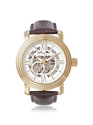 Lucien Piccard Men's 11912-YG-02S Domineer Brown Skeletonized Leather Watch