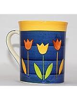 Odishabazaar Blue Ceramic Coffee Mug (4x3.5x3) Inch