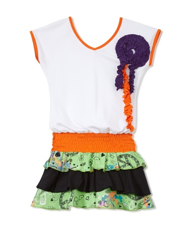 Nifunifa Girl's Florencia Dress (Flower/Violet)