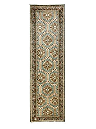 Solo Rugs Khotan One-of-a-Kind Rug, Light Blue, 3' 7