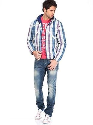 Pepe Jeans Jacke Brecon (weiß/blau/rosa)