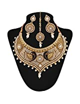 Niki Jewels beautiful pearl work Necklace for women (White) (011 49 020)