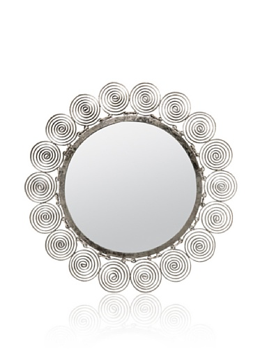 Made Goods Gregor Metal Spiral Sun Mirror (Iron Silver)