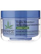 Hempz Triple Moisture Herbal Whipped Creme Body Scrub, Light Blue, Enchanted Grapefruit/Sparkling Peach, 7.3 Fluid Ounce