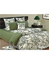 Swayam Shades of Paradise Printed Cotton 8 Piece Bed in a Bag Set - Green (BIB-2502)