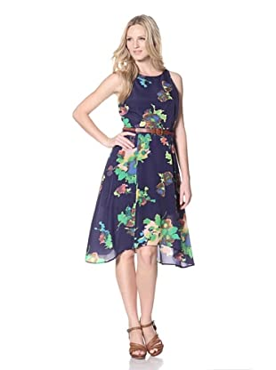 PJK Patterson J. Kincaid Women's Painted Botanicos Darci Dress (Navy Multi)