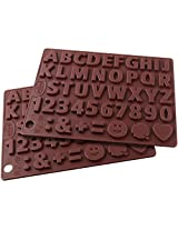 "Dr.Oetker Silicon Chocolate mould "" Letters and Numbers "" 43 motifs."