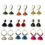Multi color Jhumka Combo(set-9)