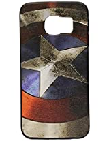 iPhone 6s Case, GMYLE Snap Cover Coated for iPhone 6s - Captain US Image Slim Fit Snap On Protective Hard Shell Back Case
