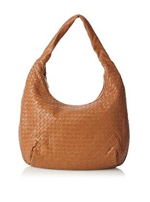 Zenith Women's Woven Hobo Bag, Cognac