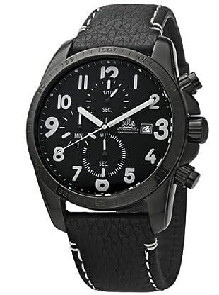 Rothenschild Armbanduhr Flight Deck Kalbsleder/Schwarz/Schwarz