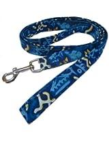 Beach Dog Sunset Pet Lead, 1-Inch by 6-Feet, Blue