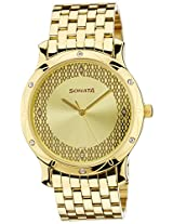 Sonata Analog Gold Dial men's Watch - 7107YM03