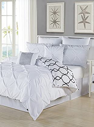 Duck River Textile Esy Reversible Pintuck 8-Piece Overfilled Comforter Set