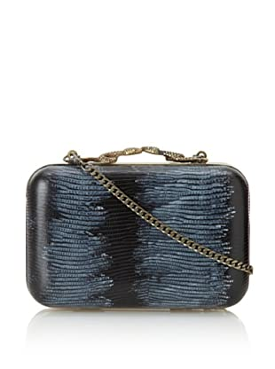 House of Harlow 1960 Women's Marley Minaudiere (Black Lizard)