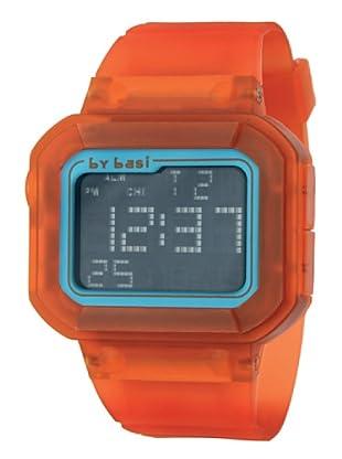 BY BASI A0971U06 - Reloj Unisex movi cuarzo correa policarbonato Naranja / Azul