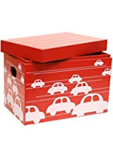 Kids Toy Storage Closed Box in Red Colour by FlyFrog