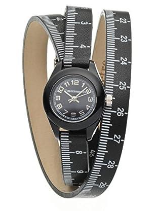 Il mezzometro Uhr mit Miyota Uhrwerk Classic Time schwarz 32 mm