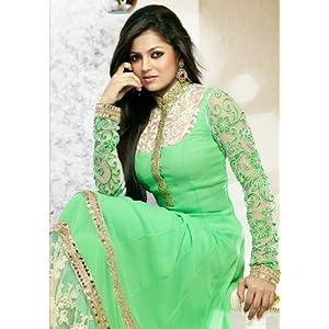 Madhubala Green Designer Salwar suit