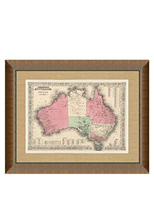 Johnson and Ward Antique Map of Australia, 1860's, 24\