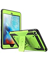 iPad Mini 4 Case, [Heave Duty] i-Blason Apple iPad Mini 4 2015 Armorbox [Dual Layer] Hybrid Full-body Protective Kickstand Case with Front Cover and Built-in Screen Protector / Impact Resistant Bumpers (Green)