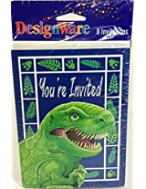 T-Rex Dinosaur Party - Invitations & Envelopes (8 Count)