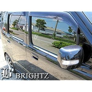 【クリックで詳細表示】【BRIGHTZ AZワゴン MJ21/22系 超鏡面クロームメッキステンレスウィンドウモール 4PC】