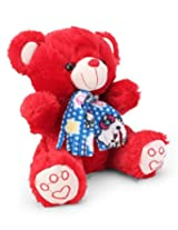 Tickles Red Muffler Teddy Stuffed Soft Plush Toy23 cm