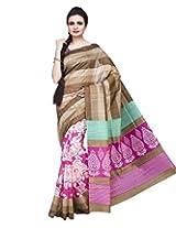 ISHIN Silk Multicolor Saree