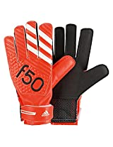 Adidas F50 Training Polyester Goalkeeper Gloves, Size 4 (Red)