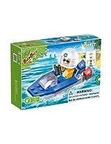 BanBao Lifeguard Patrol Boat Building Set, 19-Piece