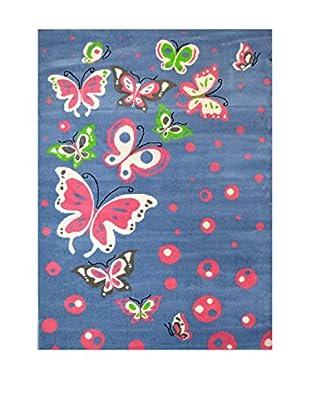 Chic Orange Teppich Joy Kids blau 100x150 cm