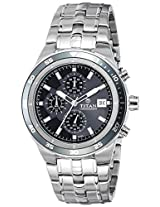 Titan Chronograph Black Dial Men's Watch - 9466KM06J