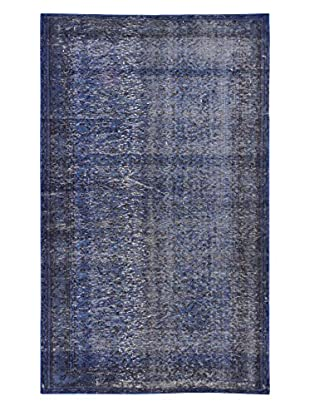 eCarpet Gallery One-of-a-Kind Hand-Knotted Color Transition Rug, Medium Blue, 4' 7