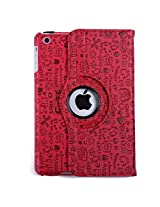 HDE iPad Mini Tablet Case Rotating Flip Stand Folding Magnetic Cover for Apple Mini 2/3 Retina (Red Cartoon)