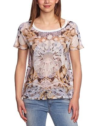 Vero Moda Camiseta Jewel (Blanco / Plata / Oro)