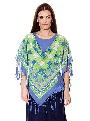Cortefiel Camiseta Pañuelo (Azul)