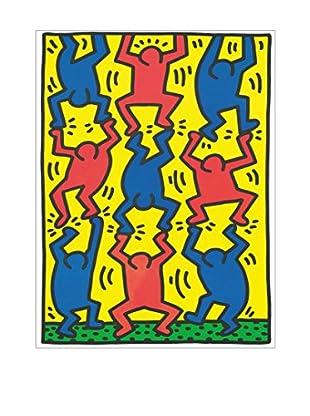 Artopweb Wandbild Haring Untitled, Aids Update 18X25 cm mehrfarbig