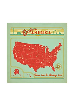 American Flat Map of the USA (Explore America)