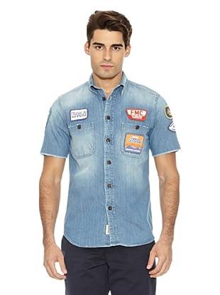 Franklin & Marshall Camisa Collier Botones (Azul)