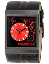 Rockwell Rockwell Time Unisex Mc118 Mercedes Black Leather And Red Watch - Mc118