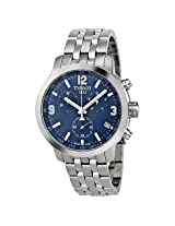 Tissot Prc 200 Chronograph Blue Dial Stainless Steel Men'S Watch - Tist0554171104700