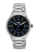 Helix Aviator Analog Black Dial Men's Watch - TI003HG0600
