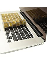 TopCase METALLIC GOLD Keyboard Silicone Cover Skin for Macbook Pro 13, 15, 17 inches with TOPCASE Logo Mouse Pad